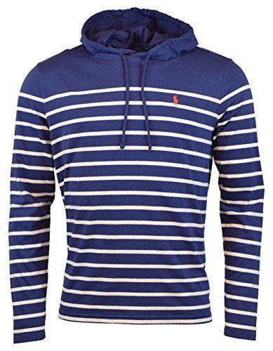 Polo Ralph Lauren Men's Jersey Knit Hoodie Long Sleeve Tee - XL - Fall Royal/White
