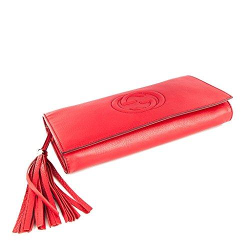 830c171fc4e7 Home Shop Women Accessories Handbags & Wallets Gucci Soho Leather Clutch  Envelope Red Bag Tassel Handbag Bag Purse Italy New