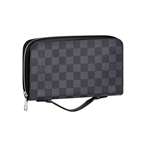 Louis Vuitton Damier Canvas Portafoglio Zippy XL Wallet N41503 Made in France