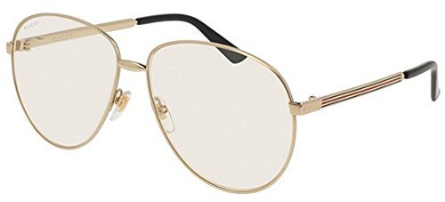 Gucci Gold Pilot Sunglasses Lens Category 1 Size 61mm