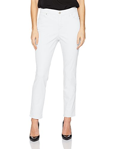 Bandolino Women's Mandie 5 Pocket Ankle Jean, White, 14