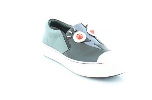 Fendi Faces Sneaker Women's Fashion Sneakers Black Size 7.5 M