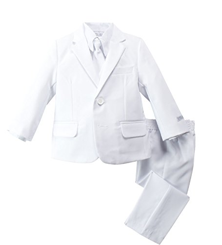Spring Notion Baby Boys' Modern Fit Dress Suit Set Large/12-18M White