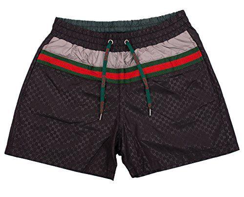 Gucci Swim Shorts, Black Mens Swim Trunks - Sizes: S, M, L, XL, XXL (S)