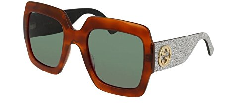 Gucci GG AVANA / GREEN / SILVER SUNGLASSES