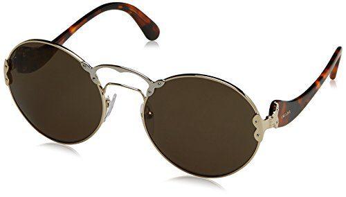 Prada Women's Pale Gold/Silver/Green Sunglasses, 57mm