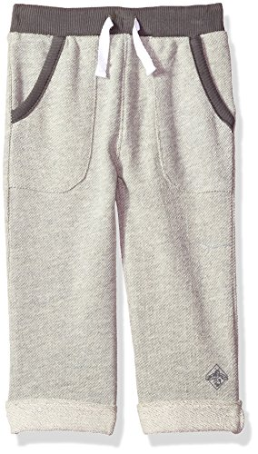 Burt's Bees Baby Baby Infant Organic Knit Pant, Heather Grey Rolled Cuff, 0-3 Months