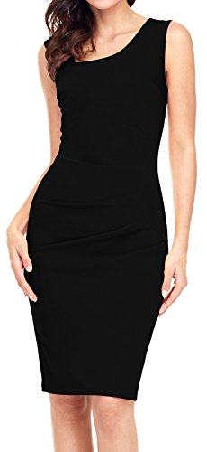 Aixy Women Vintage Retro Slim Style Sleeveless Business Pencil Cocktail Dress