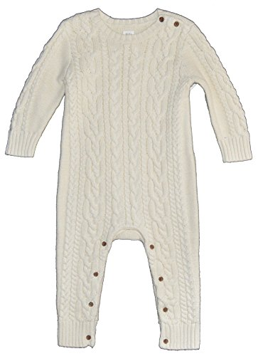 96003a219 BabyGap Baby Gap Ivory Cableknit Sweater Romper 12-18 Months Clout ...