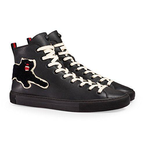 Gucci Men's Major Patch Leather High Top Sneaker, Black (11.5 US/11 UK)