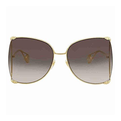 Gucci Grey Gradient Square Sunglasses