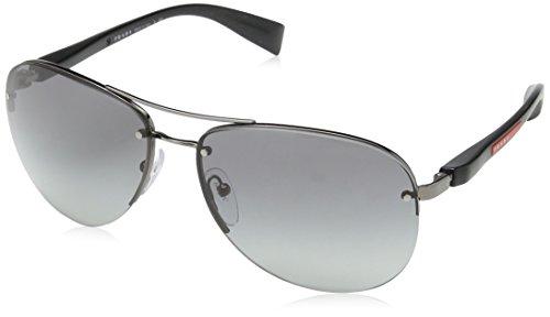 Prada Sport Gunmetal Pilot Sunglasses Lens Category 2 Size