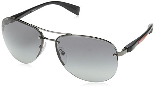 Prada Sport Gunmetal Pilot Sunglasses Lens Category 2 Size