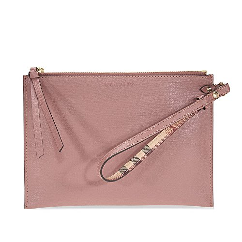 Burberry Haymarket Check and Leather Pouch - Light Elderberry