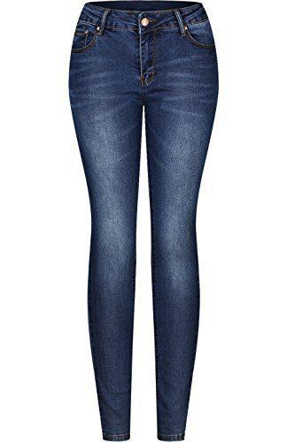 2LUV Women's Stretchy 5 Pocket Skinny Jeans Medium Wash 5