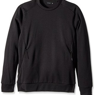 J.Lindeberg Men's Tech Terry Sweatshirt, Black, XXL