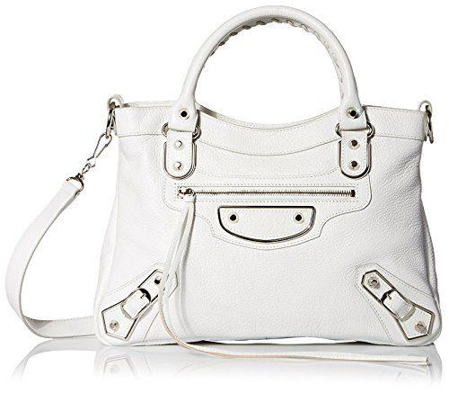 Balenciaga Women's Leather Satchel, White