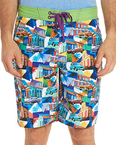 Robert Graham Men's Mambo Woven Swim Board Short, Multi, 34