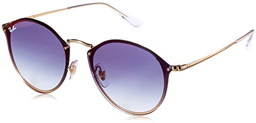 Ray-Ban Metal Unsiex Non-Polarized Iridium Square Sunglasses, Gold, 58 mm