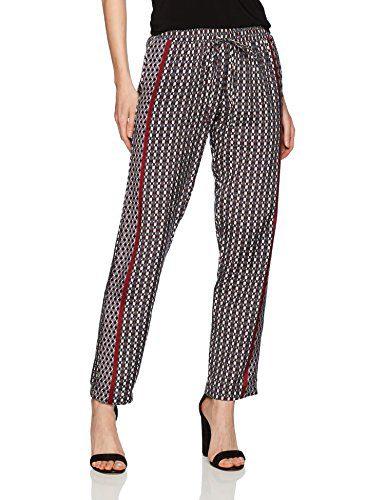 Michael Stars Women's Tie Print Drawstring Pant, Galvanized, S