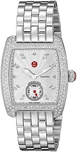 MICHELE Women's Urban Mini Analog Display Swiss Quartz Silver Watch