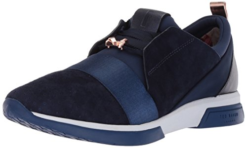 Ted Baker Women's Cepa Sneaker, Navy Suede, 6 B(M) US