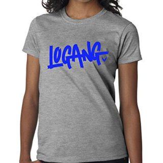 New Way 785 - Women's T-Shirt Logang Logan Paul Maverick Savage Collection 2XL Heather Grey