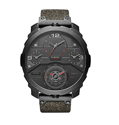 Diesel Men's Machinus Black Ip Denim Watch