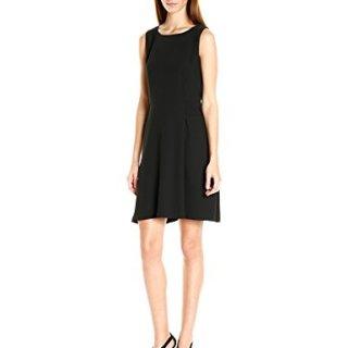 A|X Armani Exchange Women's Sleeveless 'Faux Belt Dress, Black, 10