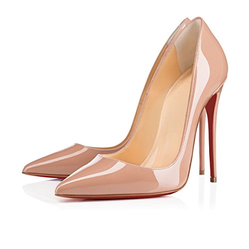 Chris-T Women Formal Pointed Toe Pumps High Heel Stilettos Sexy Slip On Dress Shoes Size 13 US
