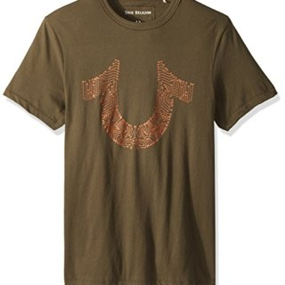 True Religion Men's Circuitz Graphic Tee, Militant Green, S