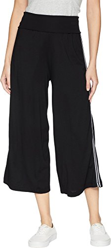 Michael Stars Women's Cropped Wide Leg Culottes Black Small