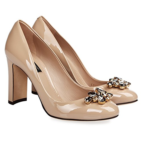 Dolce Gabbana Women's Fashion Pumps Beige (7,5 B(M) US)