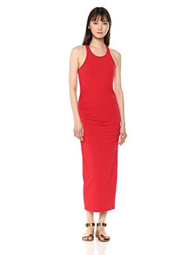 Michael Stars Women's Racerback Midi Dress, Salsa, Medium