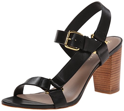 Trina Turk Women's Serena Dress Sandal, Black, 8.5 M US