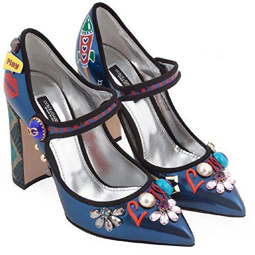 2f8c6401e4f12 Dolce & Gabbana Women's Multi-Color Patent Leather Pumps - Heels Shoes -  Size: 36 EU