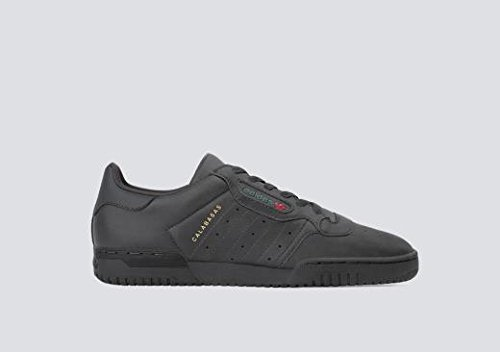 adidas Originals Yeezy Powerphase Mens Trainers Sneakers (UK 8.5 US 9 EU 42 2/3, Black Sup COL CG6420)