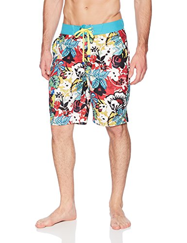 Robert Graham Men's Barbarito Woven Swim Board Short, Multi, 32