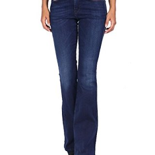 Diesel Women's Jeans Sandy-B 858A - Regular Slim Bootcut - Blue, W26/L32