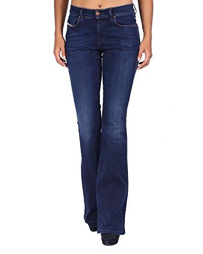 Diesel Women's Jeans Sandy-B 858A - Regular Slim Bootcut - Blue, W26/L32