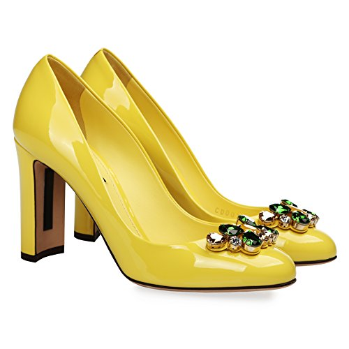 Dolce & Gabbana Women's Fashion Pumps Yellow (8 B(M) US)