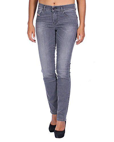 Diesel Women's Jeans Sandy - Regular Slim Straight - Gray, W25/L32