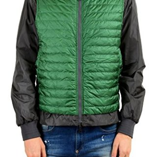 Moncler Men's Gray Green Down Reversible Light Windbreaker Jacket Size 3 US L