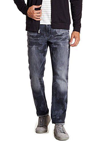 Robert Graham Men's Capture Tailored Kipling Fit Jeans (Charcoal, 34)
