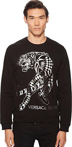 Versace Jeans Men's Tiger Graphic Sweatshirt Black 5