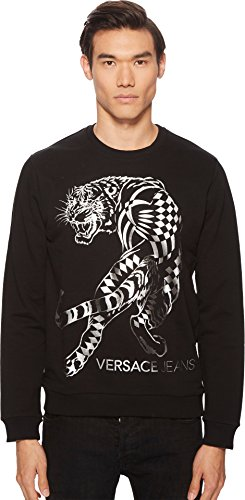 Versace Jeans Men's Tiger Graphic Sweatshirt Black 5