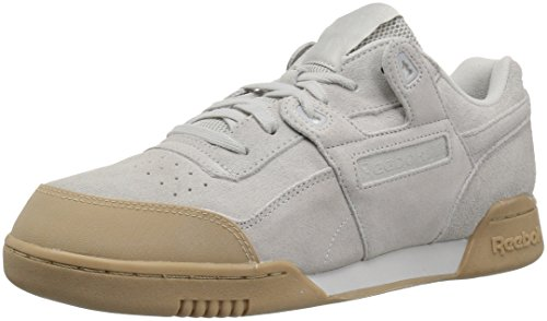 Reebok Men's Workout Plus Skk Cross Trainer, Skull Grey-Gum, 10.5 M US