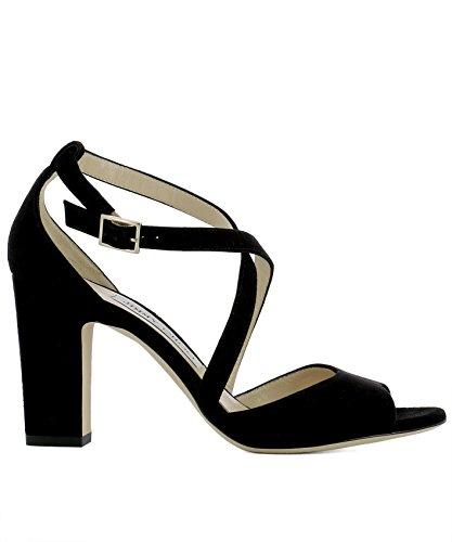 JIMMY CHOO Women's Carrie85sueblack Black Suede Sandals