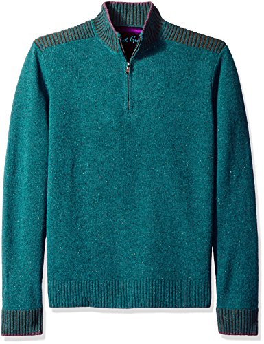 Robert Graham Men's Terzo, Heather Teal, XX-Large