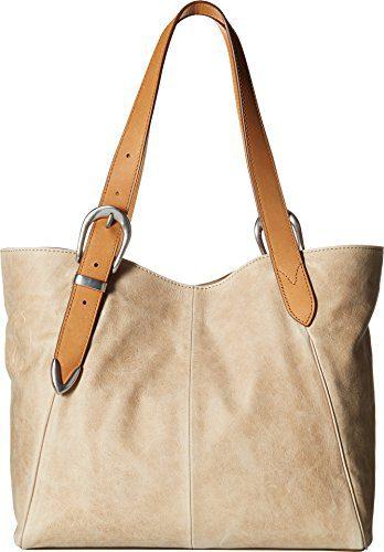 FRYE Jacqui Shoulder Leather Tote Bag, Sand